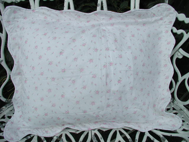 Claudia Quilted Pillow Shams King Size Pair 2 Pink Roses