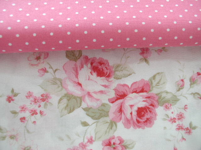Vintage Cabbage Rose Fabric